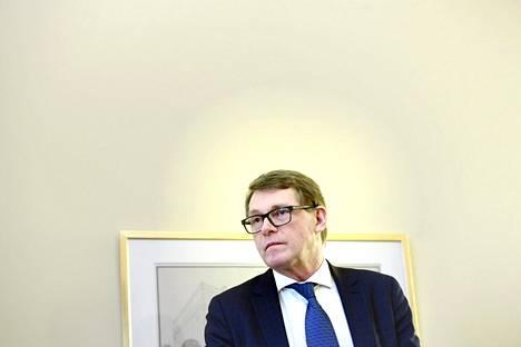 Eduskunnan puhemies Matti Vanhanen.