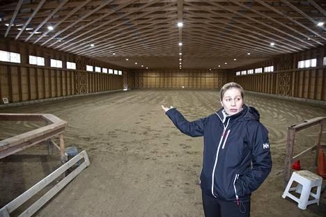 Ison loven Anne-Leena Pellikan ajasta vie ratsastustila.