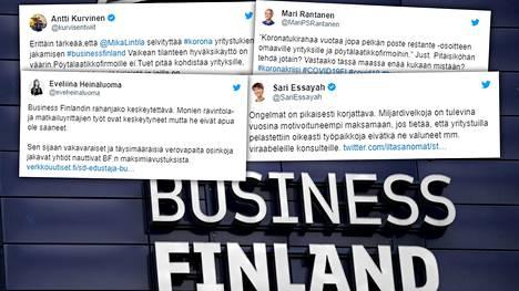 Kansanedustajat ovat ottaneet kantaa Business Finlandin rahanjakoon.