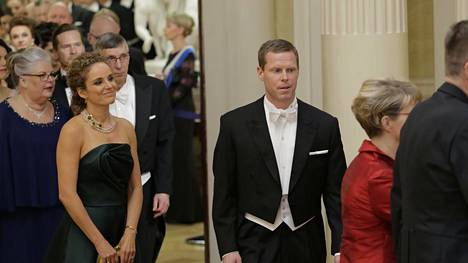 Hanna ja Saku Koivu olivat juhlavieraita.