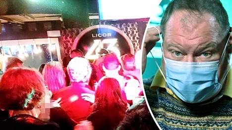 Lapin sairaanhoitopiirin Infektioylilääkäri Markku Broas katsoi Levin yöelämästä otettuja kuvia Ilta-Sanomien pyynnöstä.