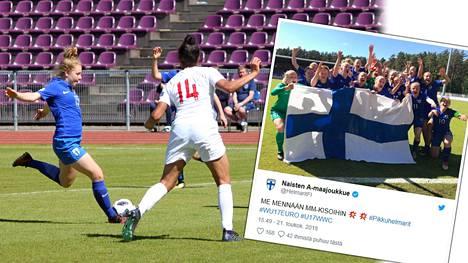 Upeaa! Suomen jalkapallotytöt MM-kisoihin