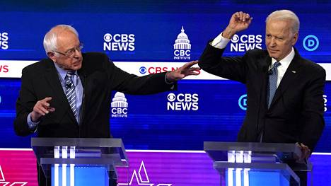Bernie Sanders sai sanallisia iskuja Joe Bidenilta.