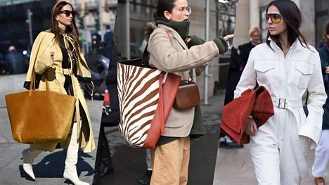 Uusimpaan muotilaukkuun mahtuu koko omaisuus – jättilaukut tulevat