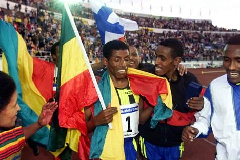 Haile Gebrselassie on viimeisin Olympiastadionilla ME-tulokseen yltänyt urheilija.