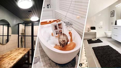 Suomalaissisustajat esittelevät taidolla laitetut kylpyhuoneensa, joissa näkyvät ajankohtaiset sisustustrendit.