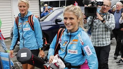 Therese Johaugin vauhtia on kehuttu myös yleisurheilupiireissä. Arkistokuva.