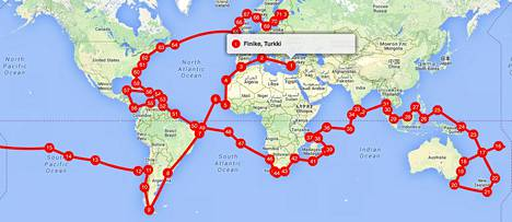 Reissun suunnitelma näyttää tältä.