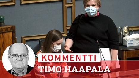 Annika Saarikon johtama keskusta joutuu Sanna Marinin (sd) hallituksessa lujille ja todistamaan puheensa, kun eläkeputken poistaminen palaa hallituksen syliin. Vasemmistoliitto on käytännössä jo sanoutunut irti putken poistamisesta.