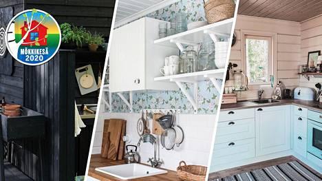 Mökkejä sisustetaan nykyään kuin koteja. Suomalaiset esittelevät ihanat mökkikeittiönsä.