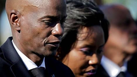 Haitin presidenttipari Jovenel ja Martine Moïse tammikuussa 2020.