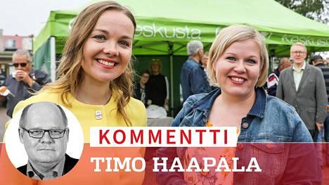 Katri Kulmuni ja Annika Saarikko olivat sulassa sovussa Loimaan torilla heinäkuun alussa, mutta jo ennen Saarikon torstaista ilmoitusta kepun harventunut kenttäväki on käynyt kuumana puheenjohtajavalinnan suhteen.