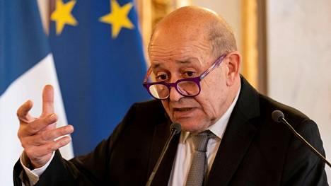 Ranskan ulkoministeri Jean-Yves Le Drian arkistokuvassa.