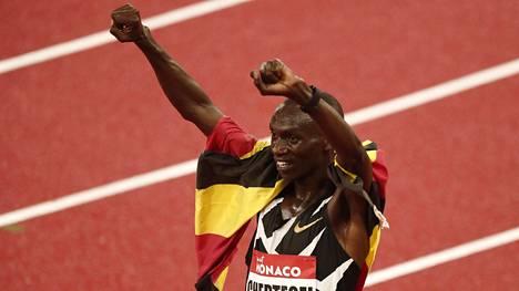 Joshua Cheptegei juoksi maailmanennätyksen Monacossa.