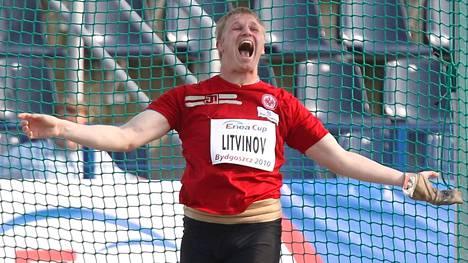 Sergei Litvinov sai heittää moukaria Lontoon MM-kisoissa.