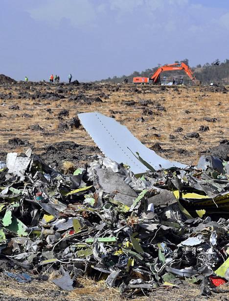 Ethiopia Airlinesin Boeing 737 Max 8 putosi Bishoftun lähelle Etiopiassa.