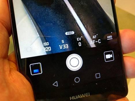 Huawei P9-kameran pro-kuvaustila.