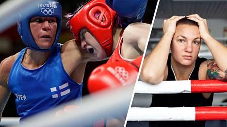 Mira Potkonen aloitti Tokiossa voitolla, mutta ranskalaisvastustaja oli tuomiosta eri mieltä.
