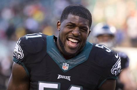 Kuva vuodelta 2014, jolloin Emmanuel Acho pelasi NFL-seura Philadelphia Eaglesin riveissä.