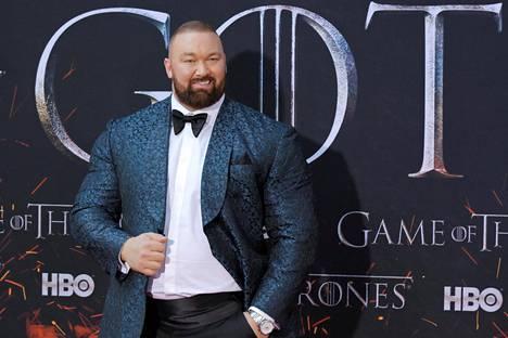 Hafþór Júlíus Björnsson tunnetaan myös Game of Thronesin voimamiehenä.