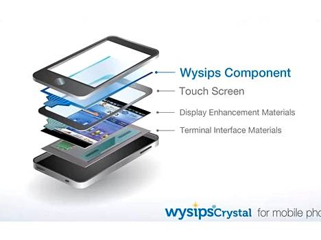 Wysips on yksi uusi kerros matkapuhelimen näytössä.