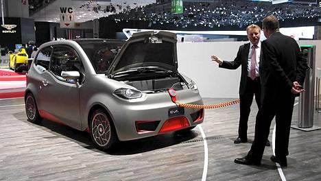 Tällainen on Valmet Automotiven sähköautokonsepti.