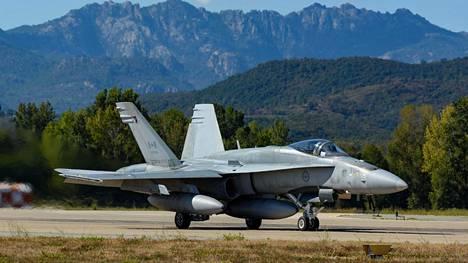 Kanadan ilmavoimien Hornetit ottivat osaa Serpentex-harjoituksiin Korsikalla syyskuussa 2017.