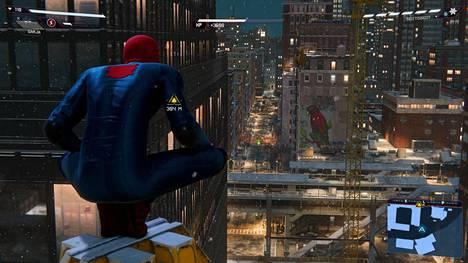 Marvel's Spider-Man: Miles Morales on parhaimmillaan erittäin kaunis. Kuva on kuvakaappaus aidosta pelitilanteesta, ei esirenderöity otos.