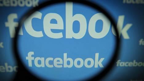 Facebook-yhtiön logo tietokoneen näytöllä.