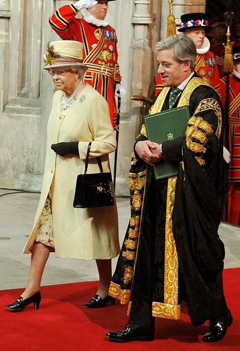 John Bercow kuvattuna kuningatar Elisabet II:n kanssa vuonna 2012.