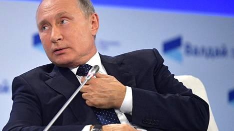 Vladimir Putinin ydinsotakommentti kohahdutti Valdain klubin keskustelutilaisuudessa, joka pidettiin 18. lokakuuta Sotshissa.