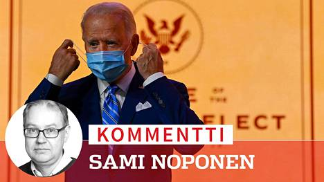 Joe Biden piti kiitospäivän puhetta Wilmingtonissa 25.11.