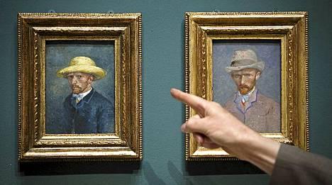 Vasemmassa kuvassa onkin taiteilijan Theo-veli. Ei suinkaan Vincent Van Gogh itse.