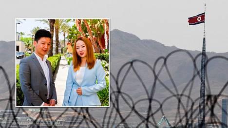 Joseph Kim (vas.) ja Lee Han-Byeol ovat harvoja onnekkaita. He onnistuivat pakenemaan Pohjois-Koreasta.
