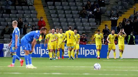 Tämä tulos ilahdutti Suomessa: Kazakstan juhli Ruslan Valiullinen maalia, Ukraina menetti voiton.