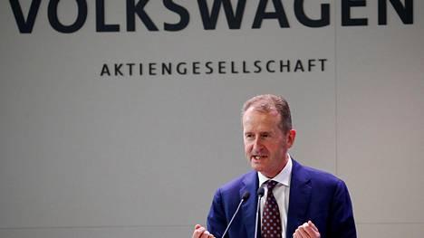 Volkswagenin pääjohtaja Herbert Diess.