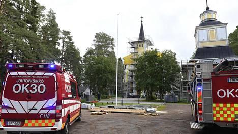 Muhoksen kirkossa syttyi tulipalo keskiviikkona.