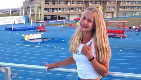 Saga Andersson Tbilisin EM-maisemissa heinäkuussa.