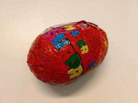 Mr. Surpise -yllätysmunien kuorien värit vaihtelevat.