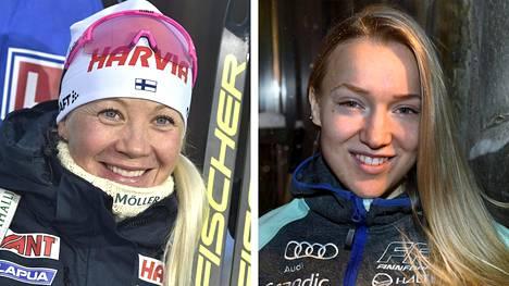 Kaisa Mäkäräinen (vas.) lopetti. Voisiko Anita Korva nousta tähdeksi ampumahiihdossa?