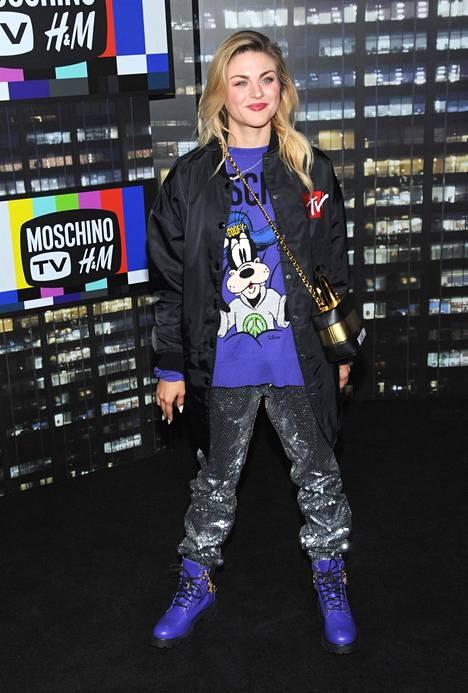 Frances Bean Cobain H&M -vaateketjun tilaisuudessa huhtikuussa 2018.