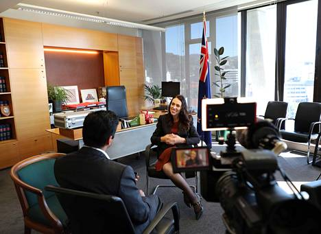 Jacinda Ardern antoi haastattelun Reutersille Wellingtonissa 11. joulukuuta 2019.