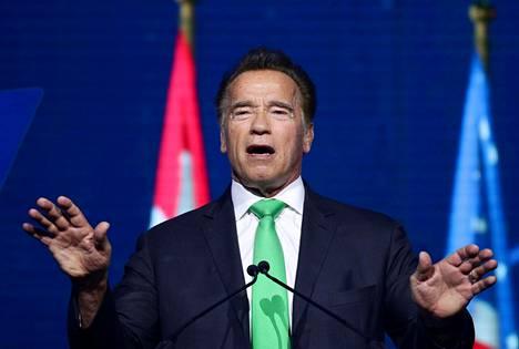 Arnold Schwarzenegger on kunnostautunut myös kuvernöörinä.