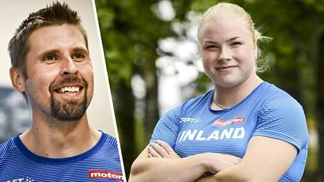 Krista Tervo heittää harjoituksissa moukaria täysin sokkona. Hurja harjoitusmetodi huvitti keihäänheittäjä Antti Ruuskasta.