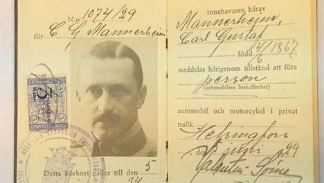 Mannerheimille myönnettiin ajokortti Helsingin poliisilaitoksella 5. kesäkuuta 1929 viideksi vuodeksi.