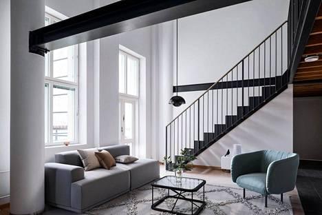 Hakaniemen torin läheisyyteen on valmistunut arvokkaita loft-asuntoja.