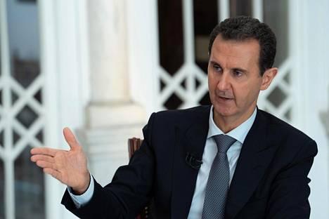 Bashar al-Assadin kertomus sodasta eroaa läntisistä raporteista. Kuvassa presidentti puhuu Syyrian uutistoimiston Sanan haastattelussa 31. lokakuuta.
