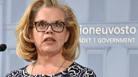 Pelastakaa lapset ry:n pääsihteeri Hanna Markkula-Kivisilta kuvattuna huhtikuussa 2020.
