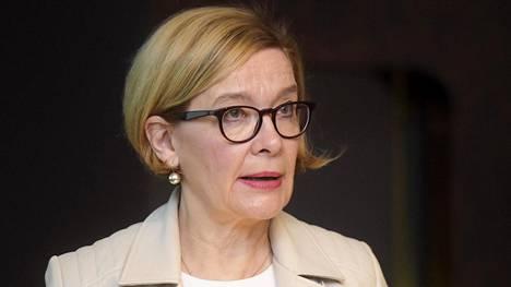 Eduskunnan puhemies Paula Risikko (kok) vieraili Ylen Ykkösaamussa lauantaina. Arkistokuva.