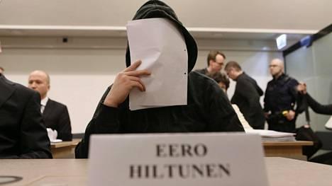 Kahdesta murhasta tuomittu Eero Hiltunen Hyvinkään käräjäoikeudessa vuonna 2013.